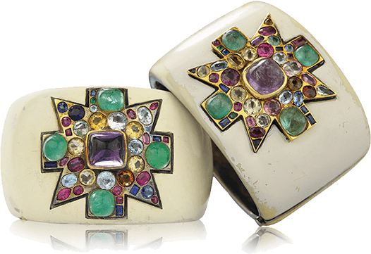 The Original Maltese Cross Cuffs made for Coco Chanel by Duke Fulco di Verdura