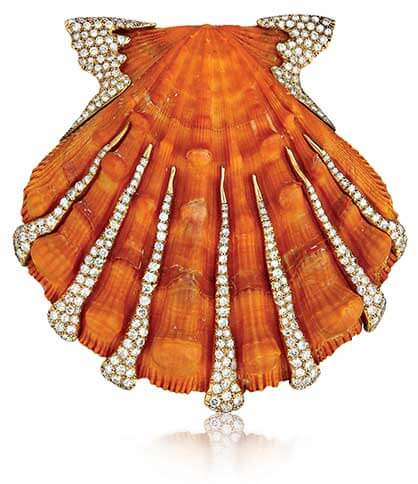 Photo of Verdura's Lions Paw Shell Brooch