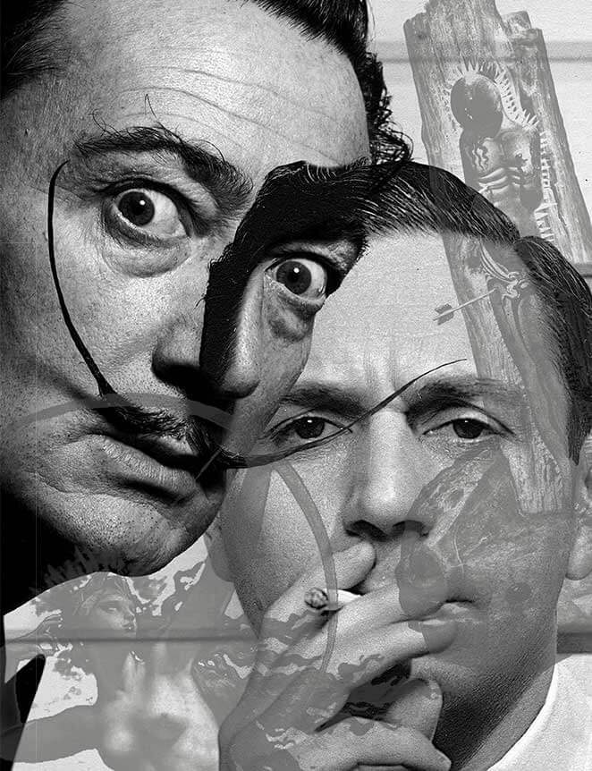 Image of Salvador Dali and Fulco di Verdura