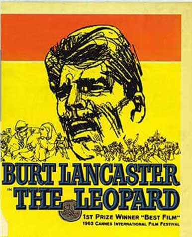 Movie poster of Burt Lancaster in The Leopard.