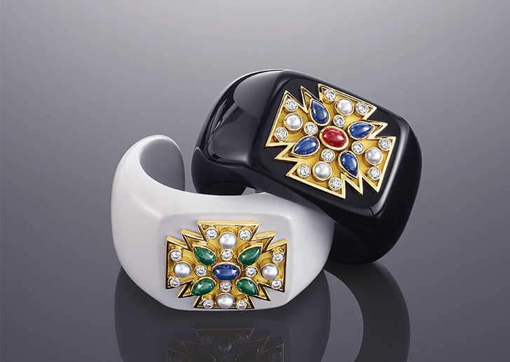 A pair of Verdura maltese cross cuffs